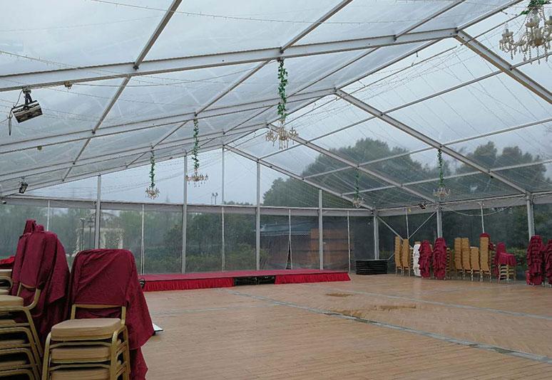 2016年嘉兴20x25米跨度透明篷房